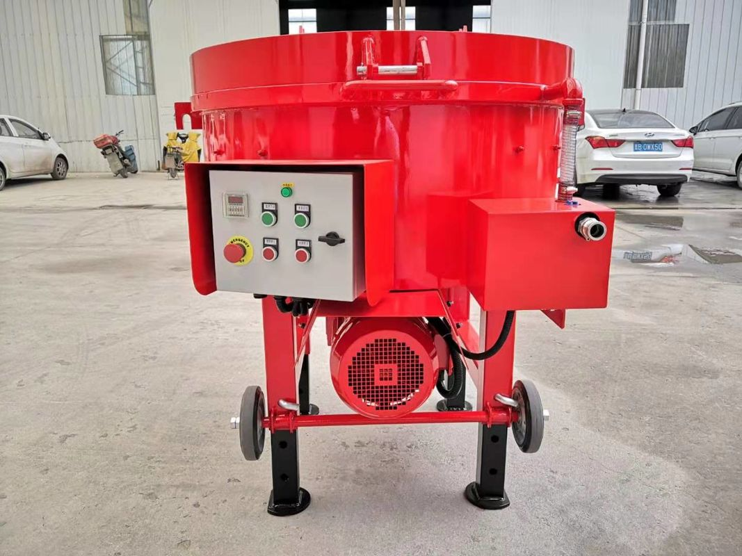 AC 380v 50HZ Refractory Portable Pan Mixer Simple Structure 300kgs Weight