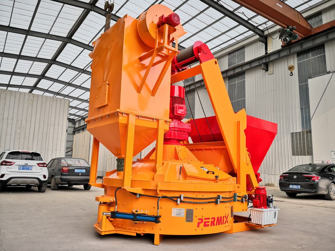 Pmc500 Precast Concrete Planetary Mixer Short Mixing Time Compact Structure